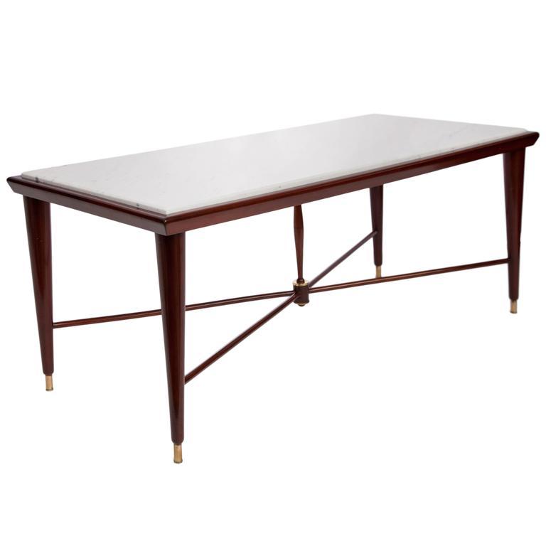 Liceu De Artes & Ofícios Coffee Table with Marble Top