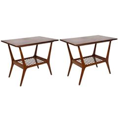 Pair of Giuseppe Scapinelli Caviuna Side Tables