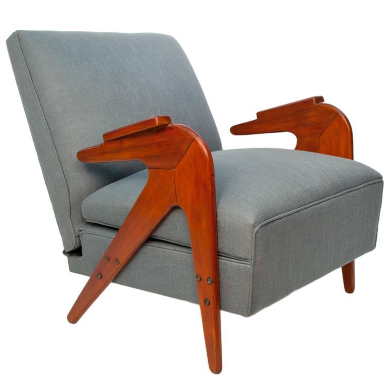 Lina Bo Bardi Style Chaise Lounge