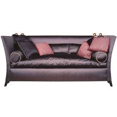 Luxe Designer 'St. Laurent' Knole Style Sofa in Gorgeous Bergamo Swiss Silks