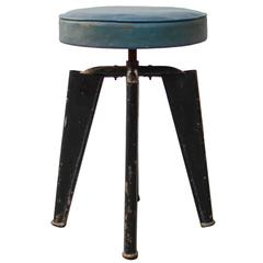 Clemenceau Stool by Dominique, 1960s, France