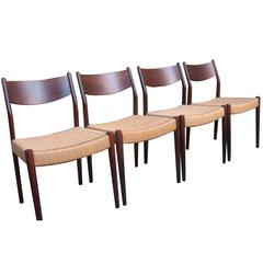 Danish 1960s Retro Solid Rosewood Moller Chairs