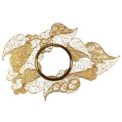 Pilgrim Mirror Brass Cords Gold 18-Karat