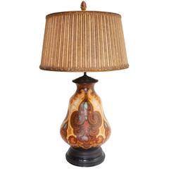 Rare Art Deco Era Gouda Pottery Lamp