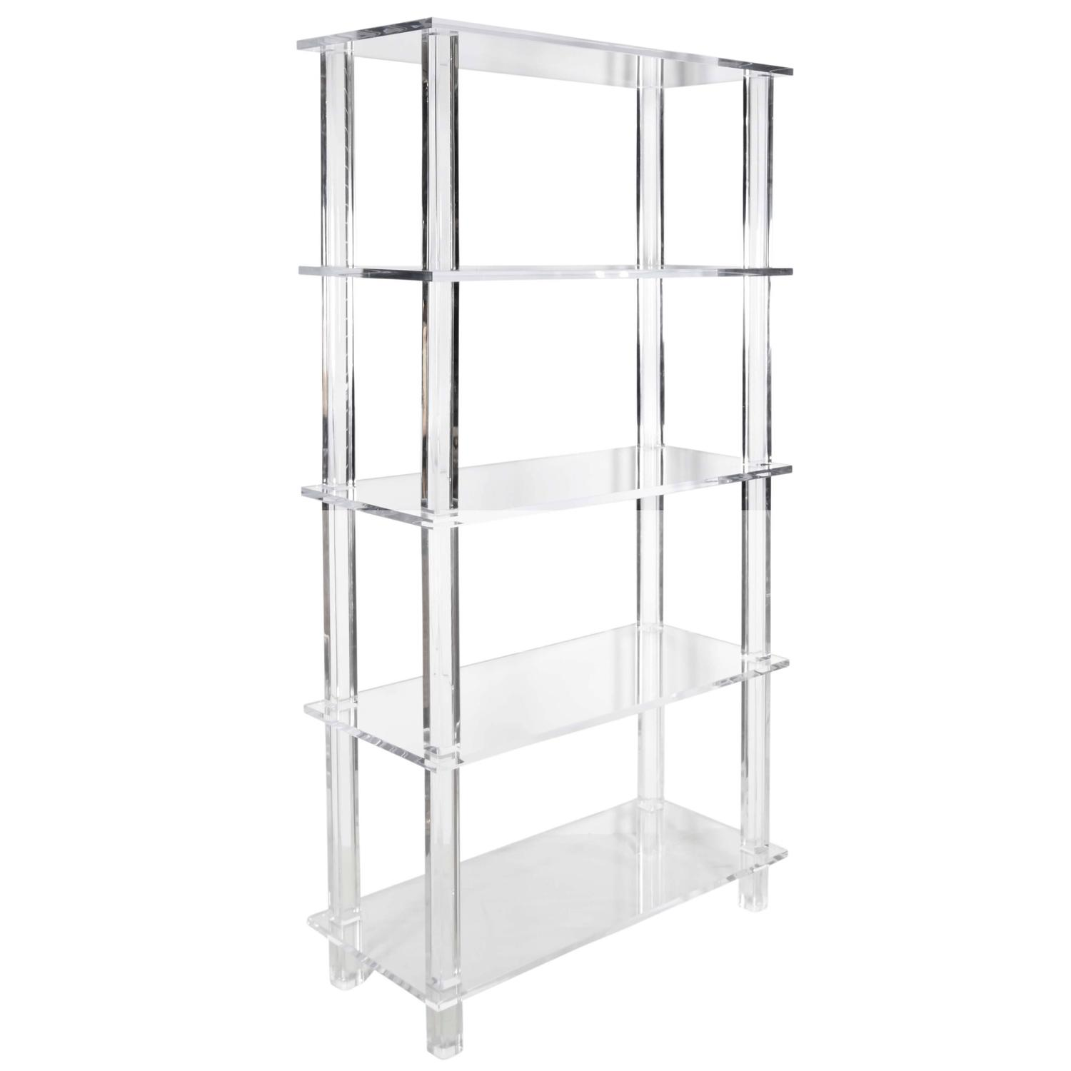 Tall Clear Lucite Etagere For Sale At 1stdibs