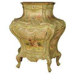 20th Century Venetian Lacquered and Painted Urn Sideboard