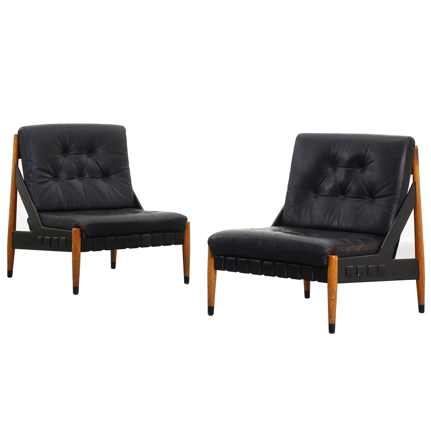 Beautiful pair of lounge chairs by egon eiermann for wilde for Lounge chair kopie