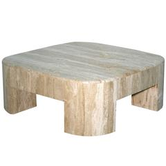 Monumental Travertine Cocktail Table