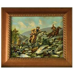 Antique Chromolithograph of Teddy Roosevelt
