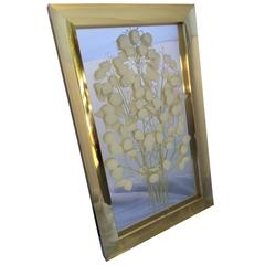 Large Brass-Framed Wall Art