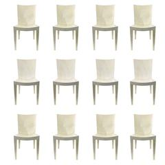 12 Karl Springer JMF Dining Chairs in Goatskin