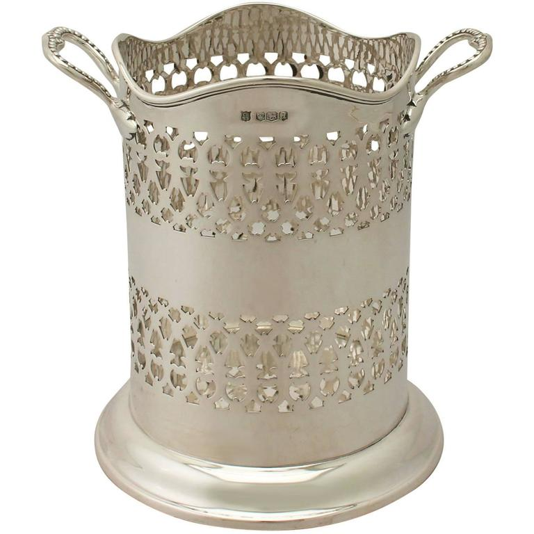 Sterling Silver Bottle Coaster Antique George V For Sale At 1stdibs