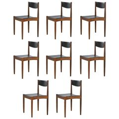 Set of Eight Poul Volther Teak Side Chairs by Frem Rojle