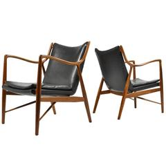 Finn Juhl Pair of No. 45 Easy Chairs