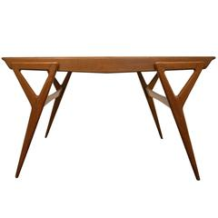 Italian Oakwood Table, circa 1960