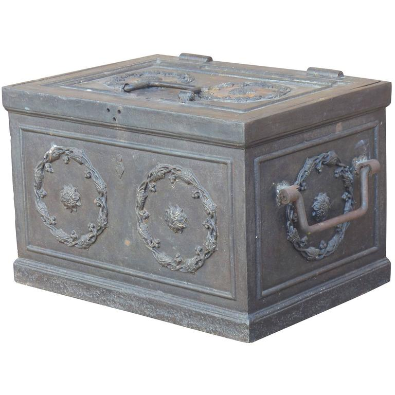 19th Century Antique Decorative Iron Safe