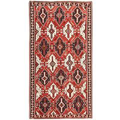 Antique Caucasian Kuba Kilim Rug