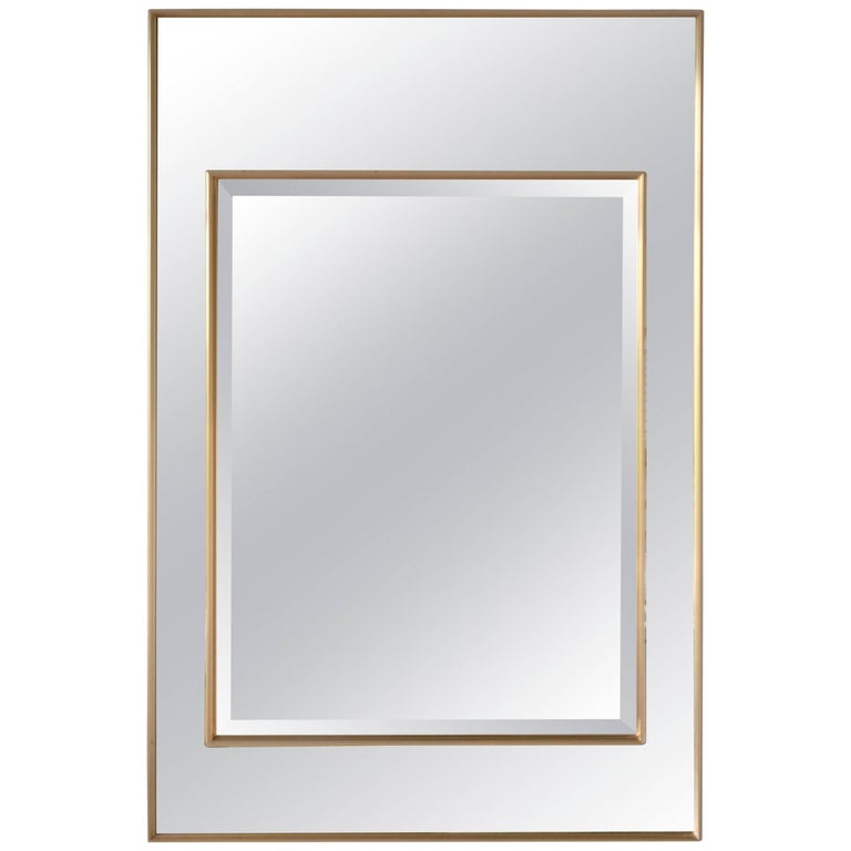 Hollywood Regency Mirror-Framed Wall Mirror