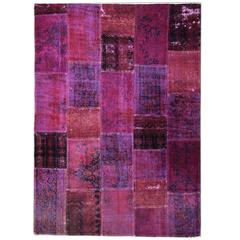Colored Vintage Patchwork Rug from Persia