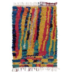 "Fantastic ""Boucherouite"" Moroccan Rug"