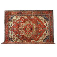 Antique Rugs, Persian Rugs, Heriz Carpet Serapi