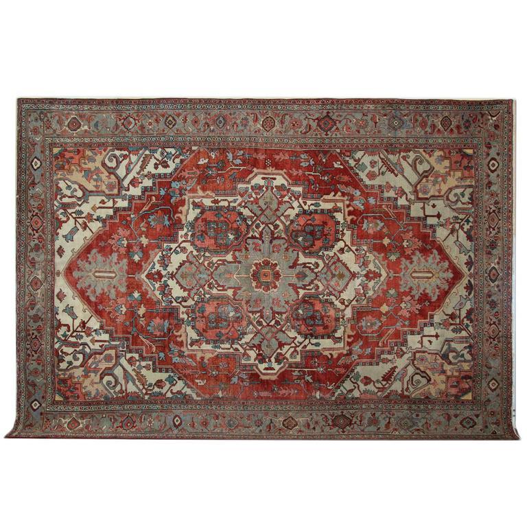 Antique Carpet, Persian Rugs, Heriz Rug