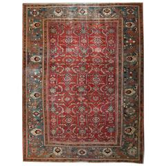 Antique Rugs, Persian Carpet, Persian Rugs, Ziegler Mahal Carpet from Sultanabad