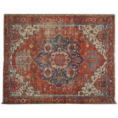 Antique Rugs, Persian Carpet, Persian Rugs, Heriz Serapi Carpet