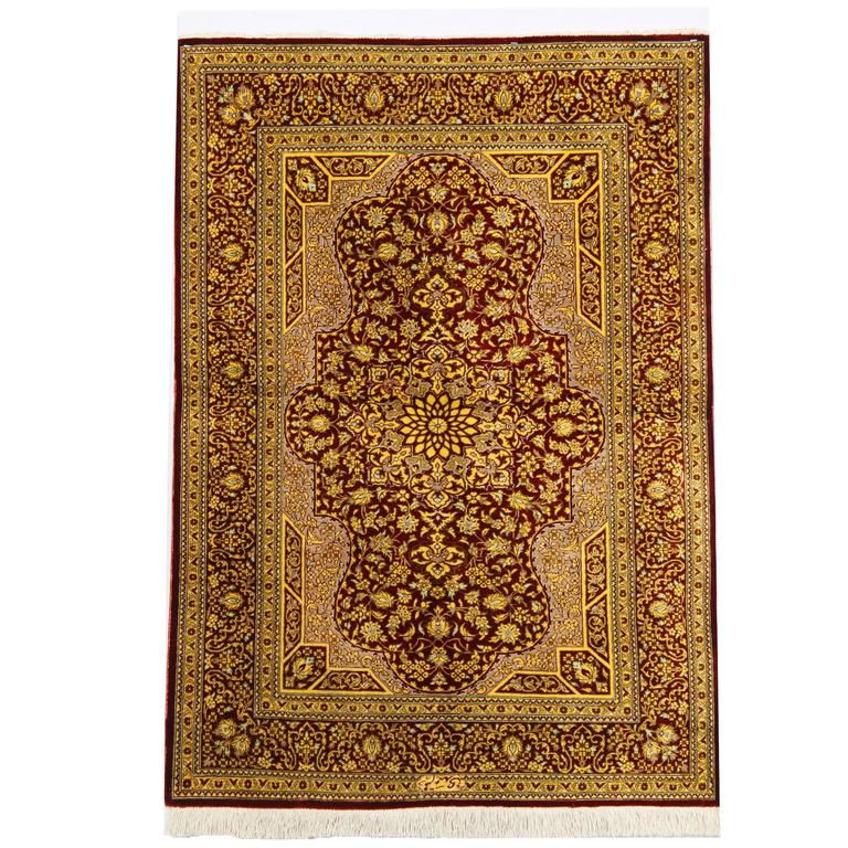 Magnificent Persian Rugs, Silk Rug from Qum