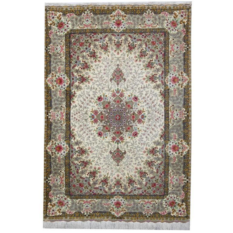 Magnificent Pure Silk Persian Qum Rugs