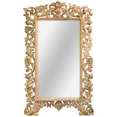18th Century Italian Giltwood Florentine Mirror