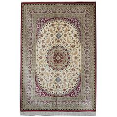 Magnificent Silk Rugs, Persian Rugs Silk Carpet from Qum