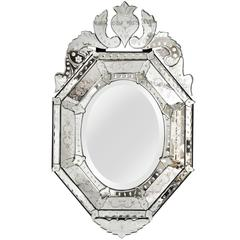 Venetian Etched-Glass Mirror