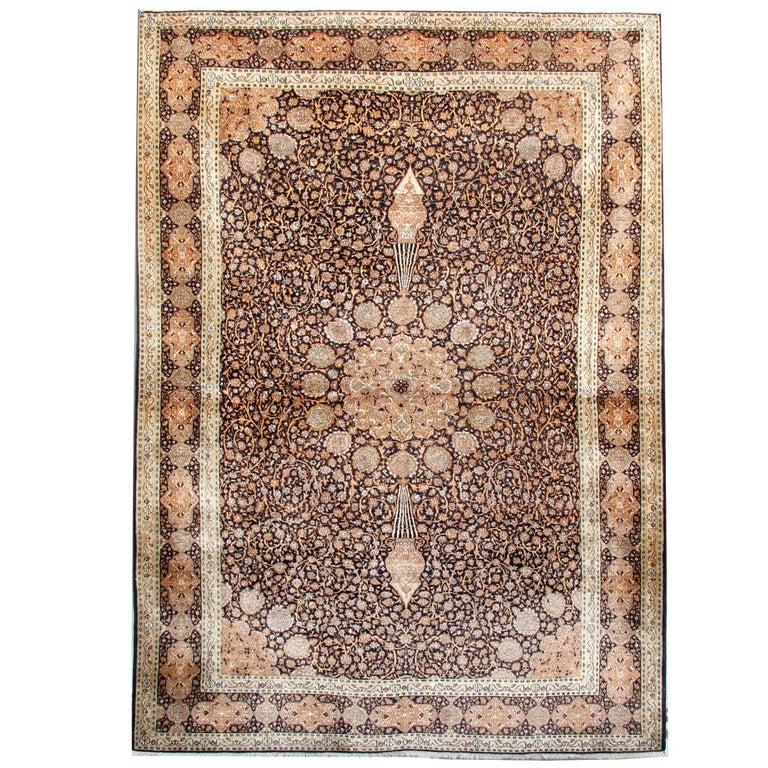Oriental Rug Hand Made Carpet Silk