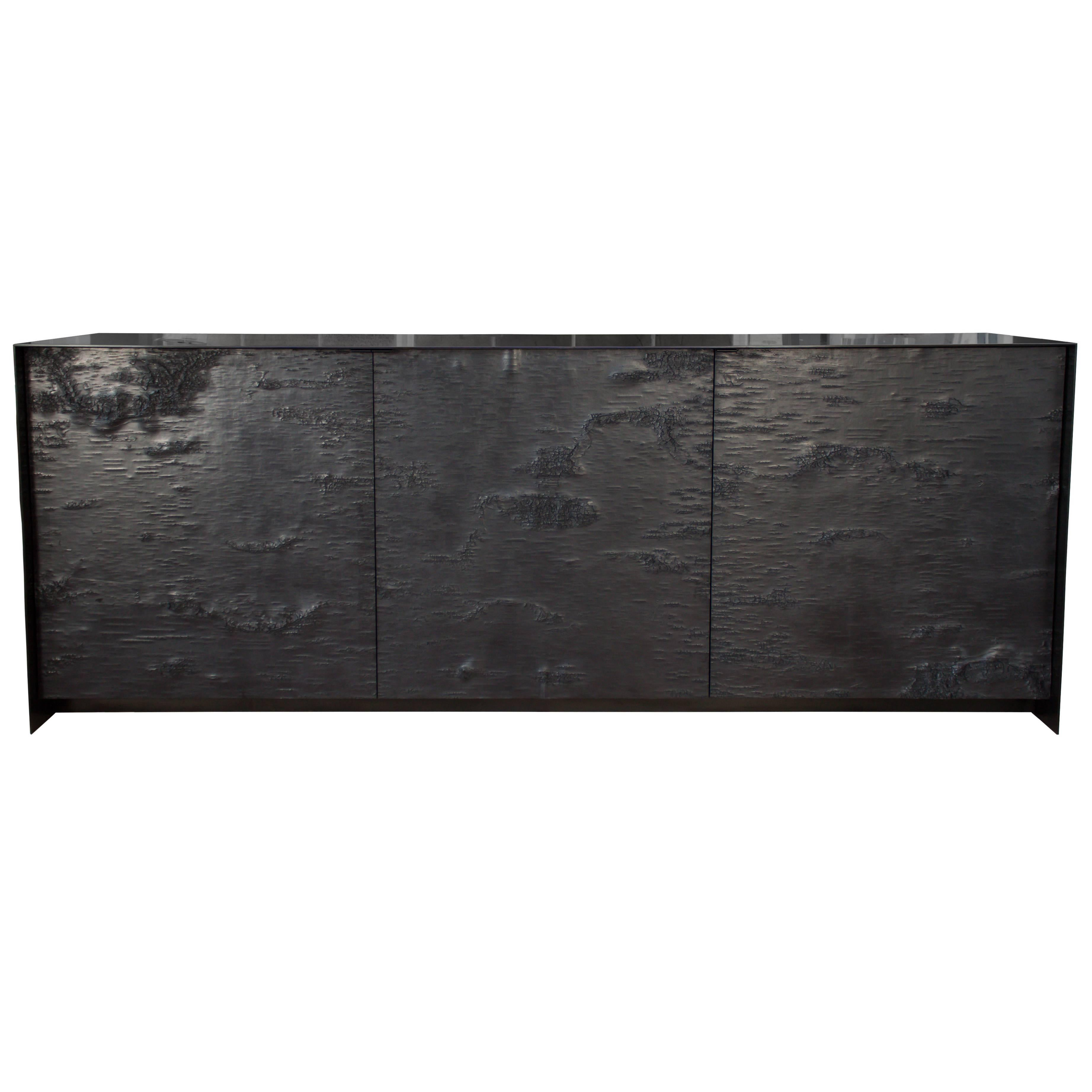 Winabojo Birch Bark Graphite Credenza Ii Customizable For Sale At