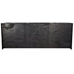 ETHER ATELIER 'Winabojo II' Graphite & Black Steel Credenza, Customizable