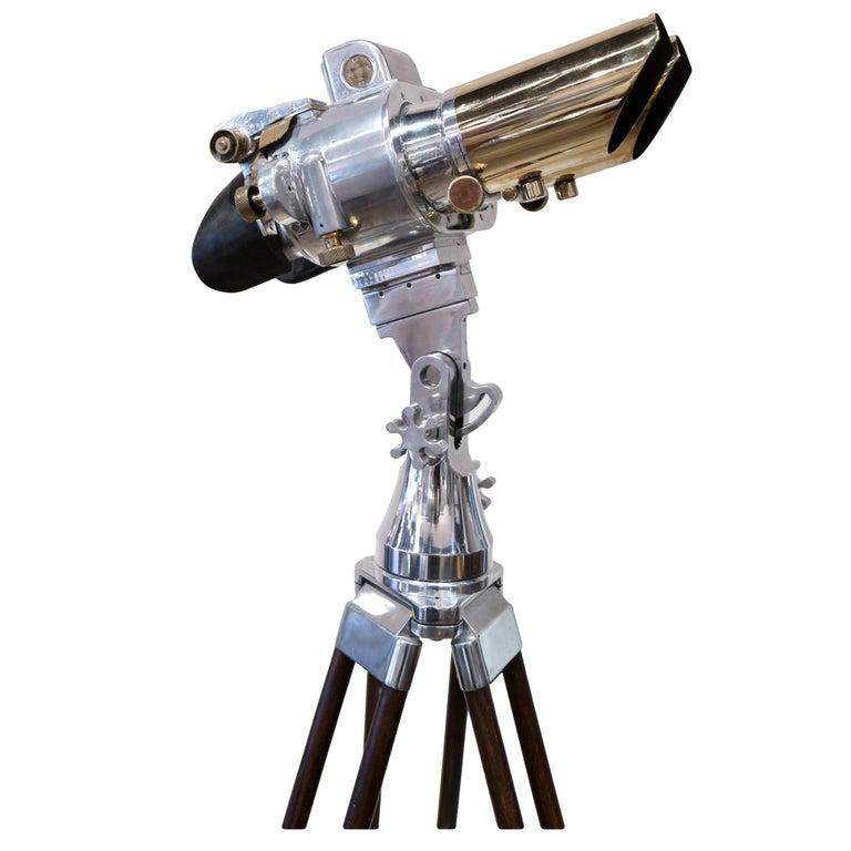 WWII Swedish Deck Mounted Binoculars For Sale