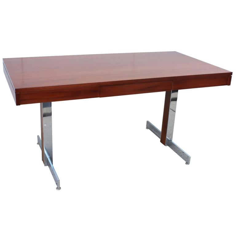Rosewood and Chrome Desk