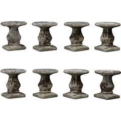 Cast Concrete Garden Stools, circa 1900