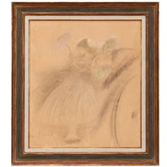 Louis Icart, French, 1888-1950 Ladies in a Carriage Pastel on Board