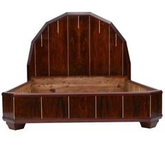 Art Deco Bed Made of Palisanderwood