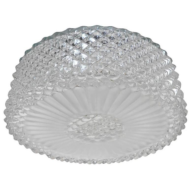 Murano Textured Glass Flush Mount