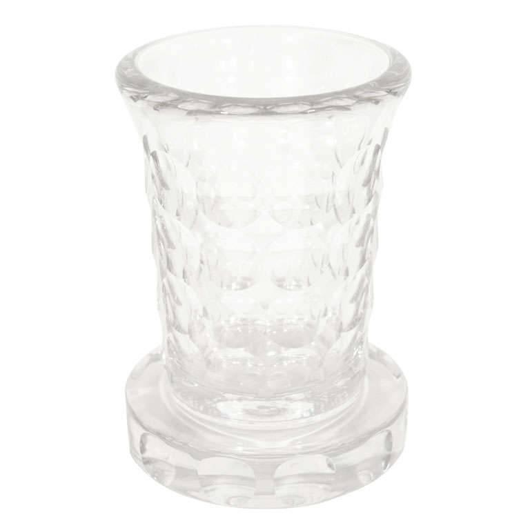French Art Deco Glass Etched Vase by Jean Luce For Sale