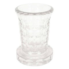 French Art Deco Glass Etched Vase by Jean Luce