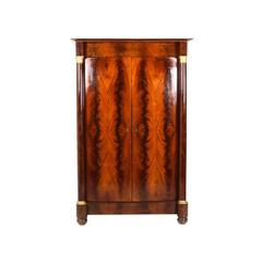 19th Century Antique French Empire Armoire