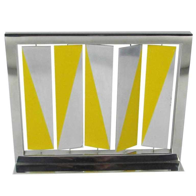 Mid-Century Modern Dean Fleming Stainless Steel and Paint Sculpture