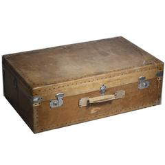 Early 20th Century Pigskin Suitcase
