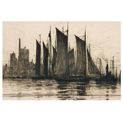 Harbor Scene Painting