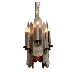 Sculptural Pendant Light Fixture by Tom Greene