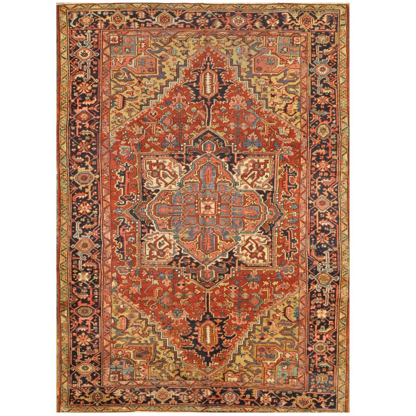 Room Size Antique Persian Heriz Rug For Sale At 1stdibs